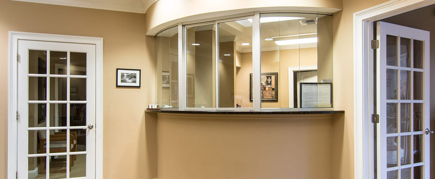 Welcoming front desk of Tallahassee dental office