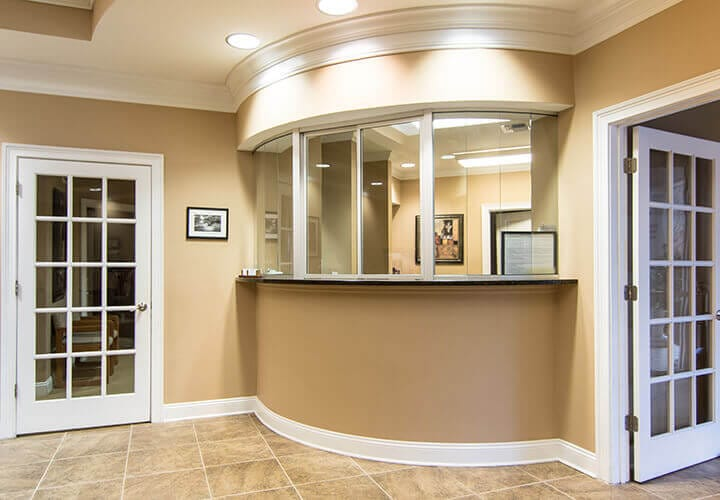 Welcoming front desk of dentistry practice