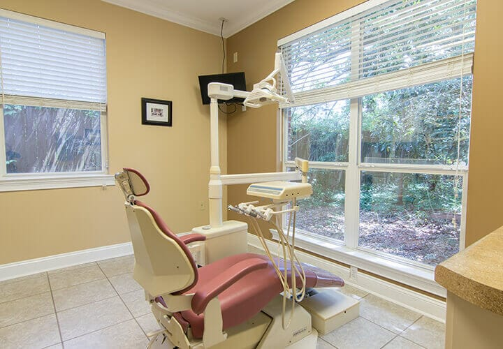 Comfortable dental chair with a view
