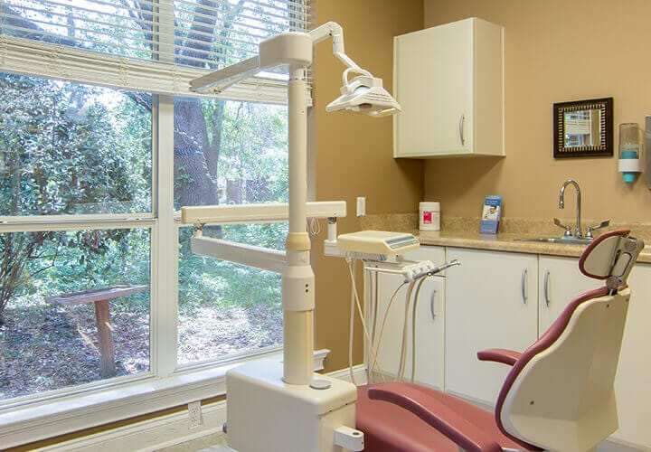 State-of-the-art dental treatment area